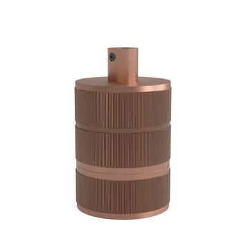 Calex Lamphouder Aluminium E27 3 Rings Mat Koper