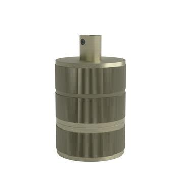 Calex Lamphouder Aluminium E27 3 Rings Mat Brons
