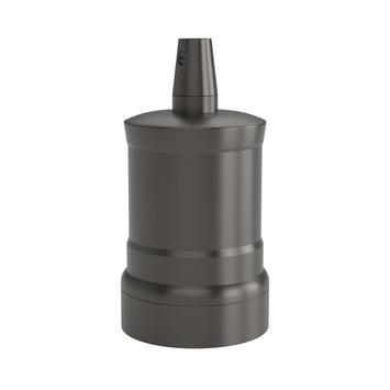 Calex E27 lamphouder aluminium model piek M-035 mat parel zwart