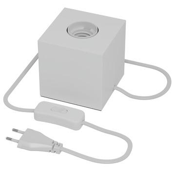 Calex E27 tafellamp-voet met schakelaar max.1x40W 1,8M snoer, wit