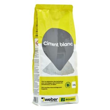 Beamix cement wit 4 kg