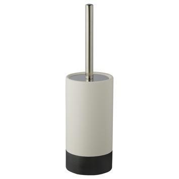 Atlantic toiletborstelhouder keramiek geribbeld Antraciet/Wit