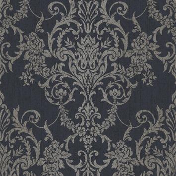 Vliesbehang Versailles donkerblauw 105965