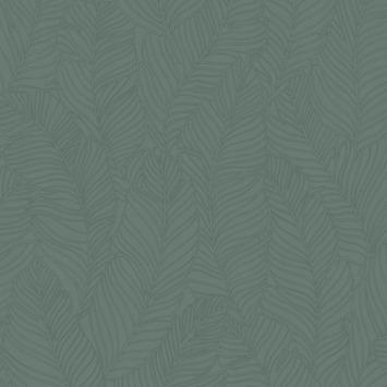 Vliesbehang Blad all over groen 105972