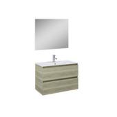 atlantic badmeubelset heon hout 80 cm met spiegel