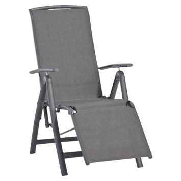 Relaxstoel Toledo Antraciet Aluminium