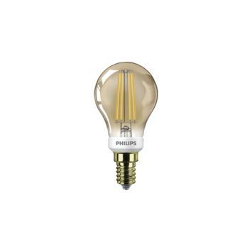 Philips LED kogellamp filament E14 32W goud