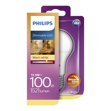 Philips LED 100W E27 peer warmglow dimbaar