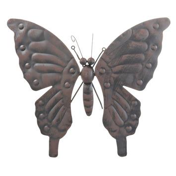 Wanddecoratie Buiten Metaal.Gamma Wanddecoratie Vlinder Middel Metaal Zwart Kopen