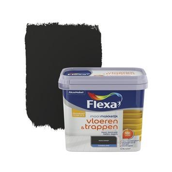 Flexa Mooi Makkelijk vloeren&trappen zwart zijdeglans 750 ml