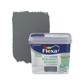 Flexa Mooi Makkelijk keukenkasten donkergrijs zijdeglans 750 ml