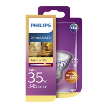 Philips LED spot 35W GU5.3 12V warmglow dimbaar