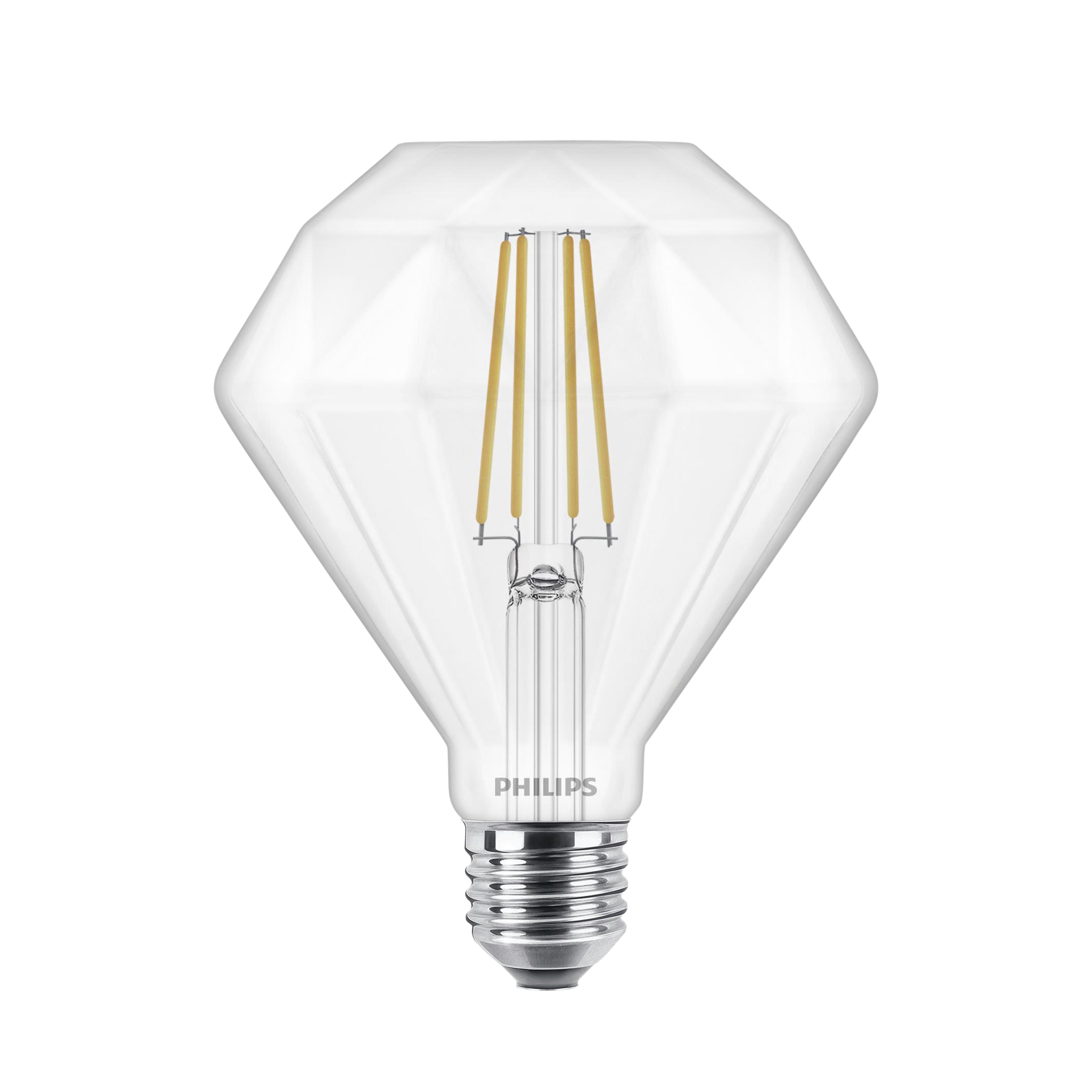 Philips LED lamp filament diamant E27 40W warm wit dimbaar