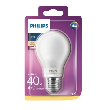 Philips LED classic 40W E27 peer frosted warmwit