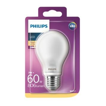 Philips LED classic 60W E27 peer frosted Warmwit