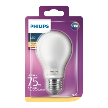 Philips LED classic 75W E27 peer frosted warmwit