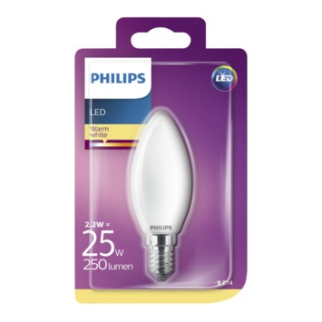 Philips LED classic 25W E14 kaars frosted warmwit