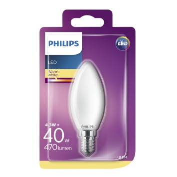 Philips LED classic 40W E14 kaars frosted warmwit