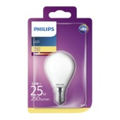 Philips LED classic 25W E14 kogel frosted warmwit