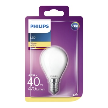 Philips LED classic 40W E14 kogel frosted warmwit