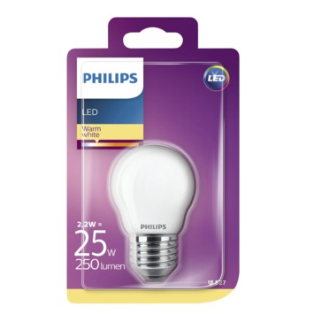 Philips LED classic 25W E27 kogel frosted warmwit