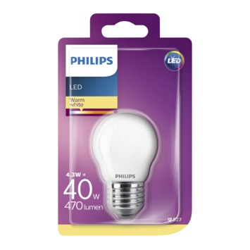 Philips LED classic 40W E27 kogel frosted warmwit