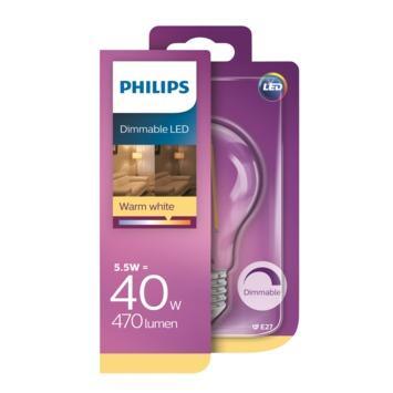 Philips filamentlamp LED E27 40 watt dimbaar