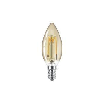 Philips LED kaarslamp E14 14W goud