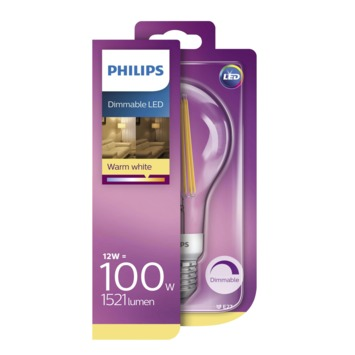 Philips LED lamp E27 100W warm wit dimbaar