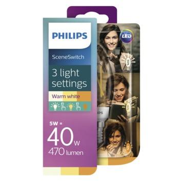 Philips LED kaarslamp E14 40W SceneSwitch