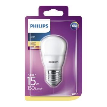 Philips LED kogellamp E27 15W warm wit