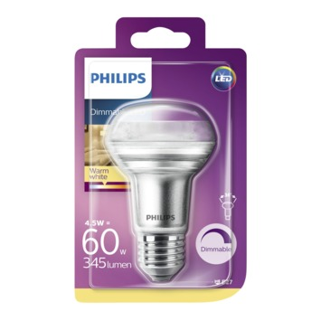 Philips LED classic Reflector 60W R63 E27 dimbaar warmwit