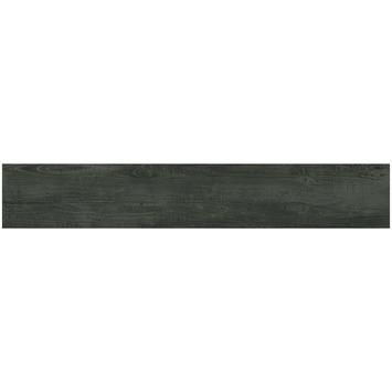 Vloertegel Smokey Mountains Zwart 20x120 cm 1,44 m²