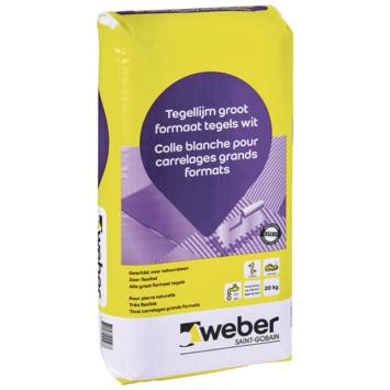 Weber tegellijm groot formaat wit 20kg