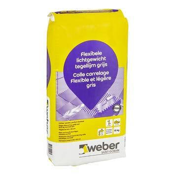 Weber flexibele lichtgewicht tegellijm grijs 15kg