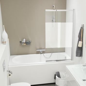 Get Wet Badwand met Schuifwand Style 80x140 cm met Gesatineerde Band