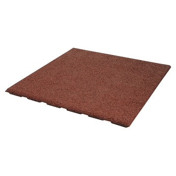 Terrastegel Rubber Rood 50x50 cm - Per Tegel / 0,25 m2