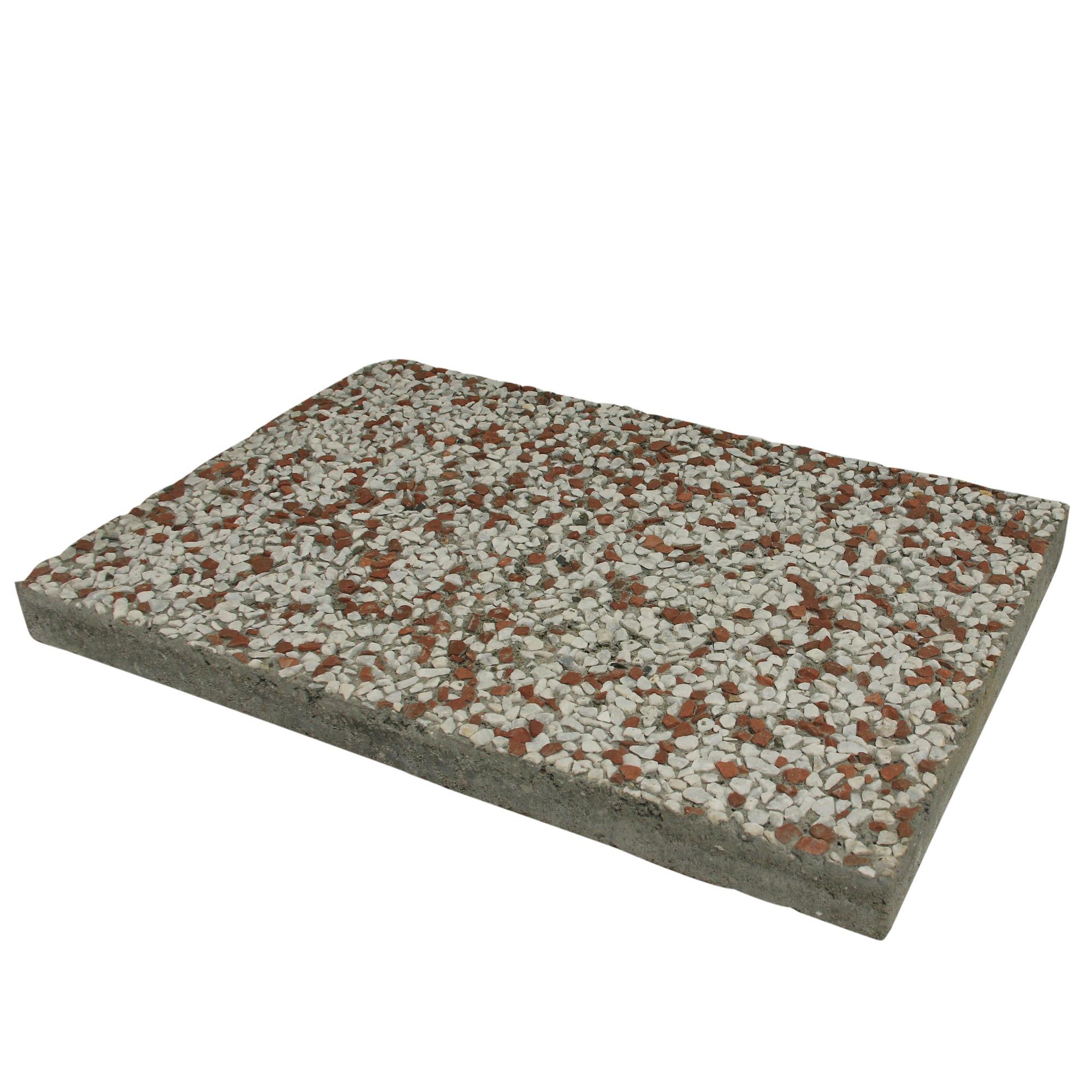 Grindtegel Wit/Rood 60x40 cm - Per Tegel - 0,24 m2