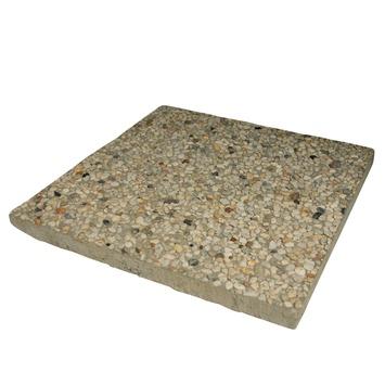 Terrastegels Beton 50x50.Grindtegel Wit Geel 50x50 Cm 50 Tegels 12 5 M2