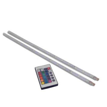 LED strip multicolour met afstandsbediening 40 cm 2 stuks