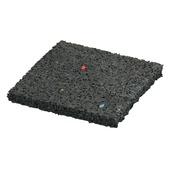 Tegeldrager rubber zwart 10x10x1 cm