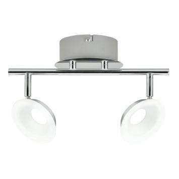 Philips opbouwspot Mackinaw 2-lichts chroom