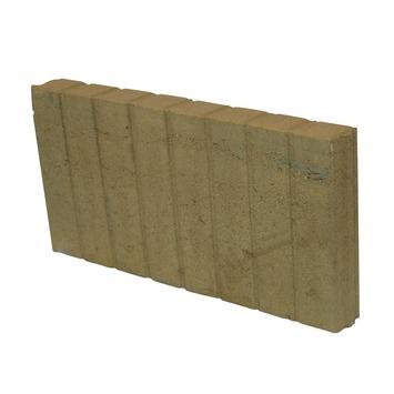 Palissade Beton Geel 50x25x6 cm - 72 Stuks
