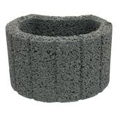 Bloembak beton rond antraciet 35x28x20 cm