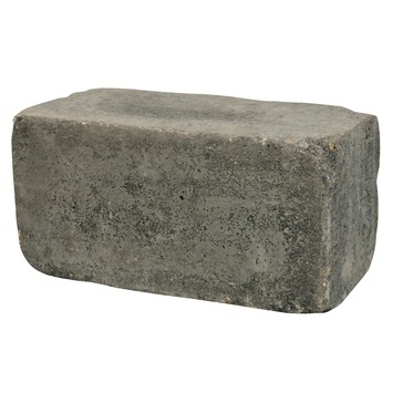 Stapelblok Beton Getrommeld Antraciet 30x15x15 cm - Per Stuk