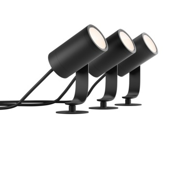 Philips Hue Lily startset prikspot 3x8W zwart