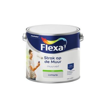 Flexa Strak op de muur licht grijs mat 2,5 liter