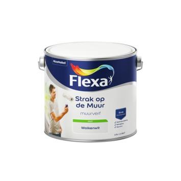 Flexa Strak op de muur wolkenwit mat 2,5 liter