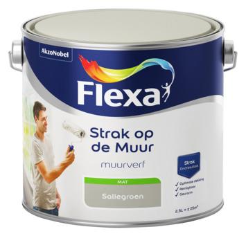 Flexa Strak op de muur saliegroen mat 2,5 liter
