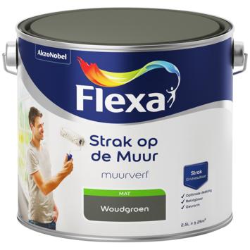 Flexa Strak op de muur woudgroen mat 2,5 liter